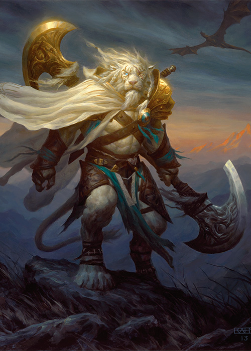 Ajani Steadfast | Art by Chris Rahn