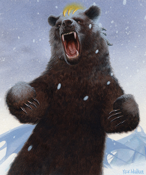 Bear token | Art by Kev Walker