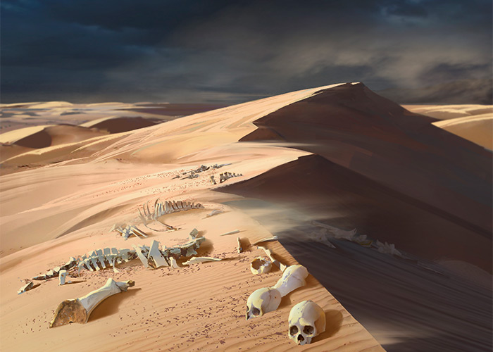 Scoured Barrens | Art by Eytan Zana