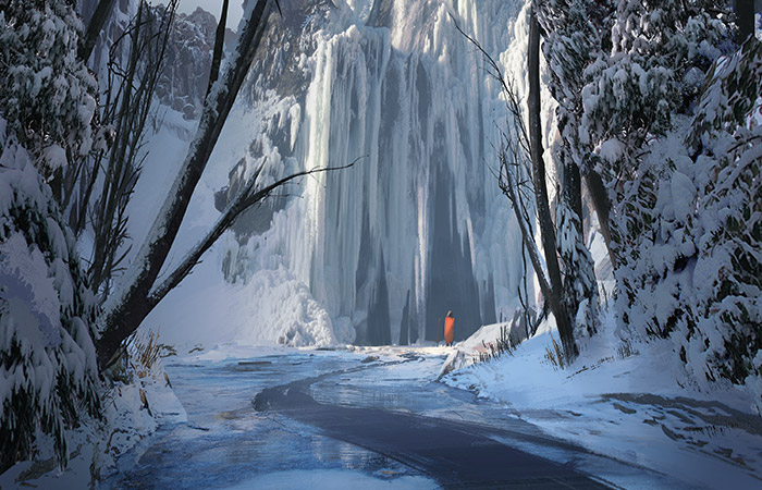 Thornwood Falls | Art by Eytan Zana