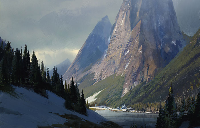 Rugged Highlands | Art by Eytan Zana