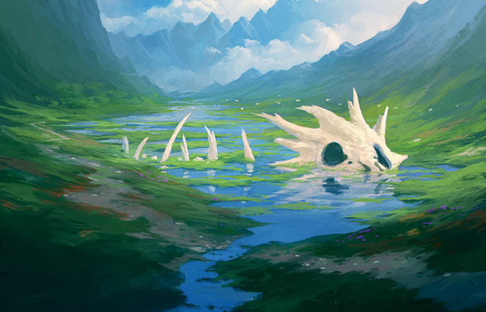 Flooded Strand | Art by Andreas Rocha