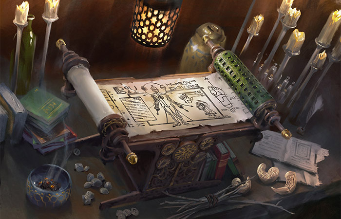 Scroll of the Masters | Art by Lake Hurwitz
