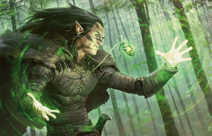 Elvish Mystic | Art by Wesley Burt