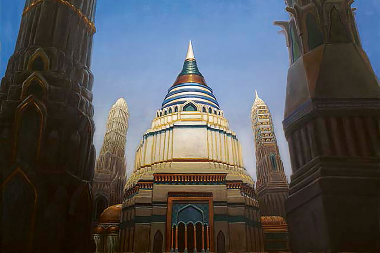 Library of Alexandria | Art by Drew Baker